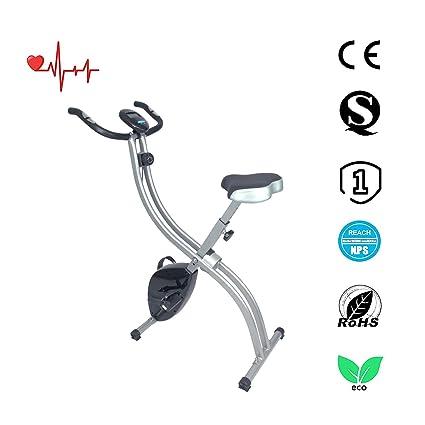 Ativafit F-Bike Bicicleta estática de fitness X Bike Bicicleta plegable magnética F bike pulsómetro