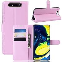 """Capa Capinha Carteira 360 Para Samsung Galaxy A80 Tela De 6.7"""" Polegadas Case Couro Flip Wallet - Danet (Rosa)"""