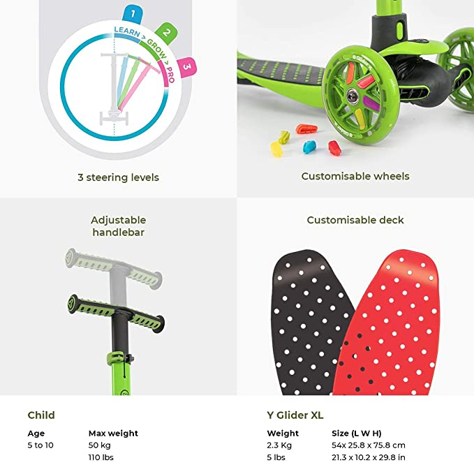Yvolution y Glider XL patinete de niños: Amazon.es: Deportes ...