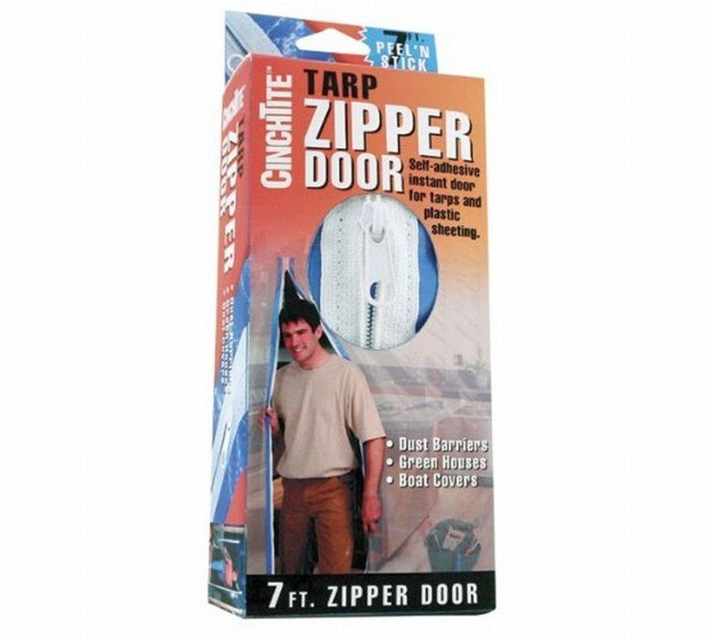 Cinch Tite Tarp Zipper Door Plastic Boxed