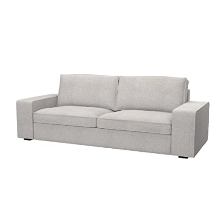 Soferia   Replacement Cover For IKEA KIVIK 3 Seat Sofa Bed, Naturel Beige
