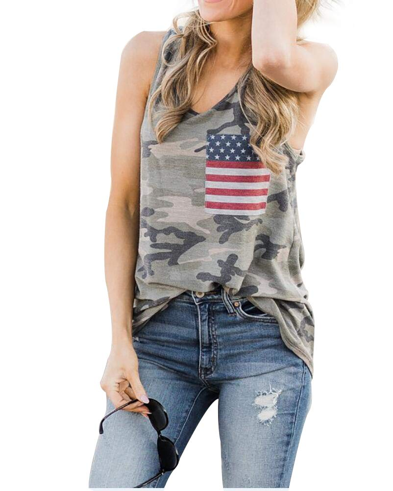 Hdlte American Flag Tank Top Sleeveless Funny Graphic Fourth Of July T Shirt Muscle Tees 2