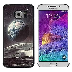 Be Good Phone Accessory // Dura Cáscara cubierta Protectora Caso Carcasa Funda de Protección para Samsung Galaxy S6 EDGE SM-G925 // Planet Earth Space Art Stars Cosmos
