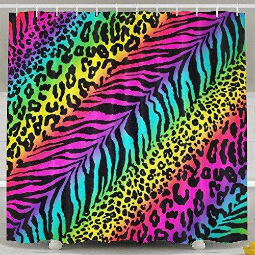 Rainbow Animal Zebra Print Shower Curtain Waterproof/Water-Repellent