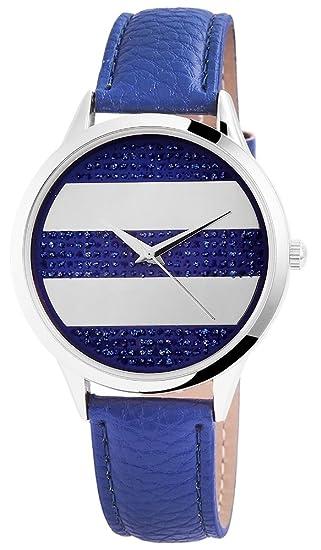 Reloj mujer RELOJ DE pulsera correa de piel sintética L 23 cm BR 18 mm hebilla