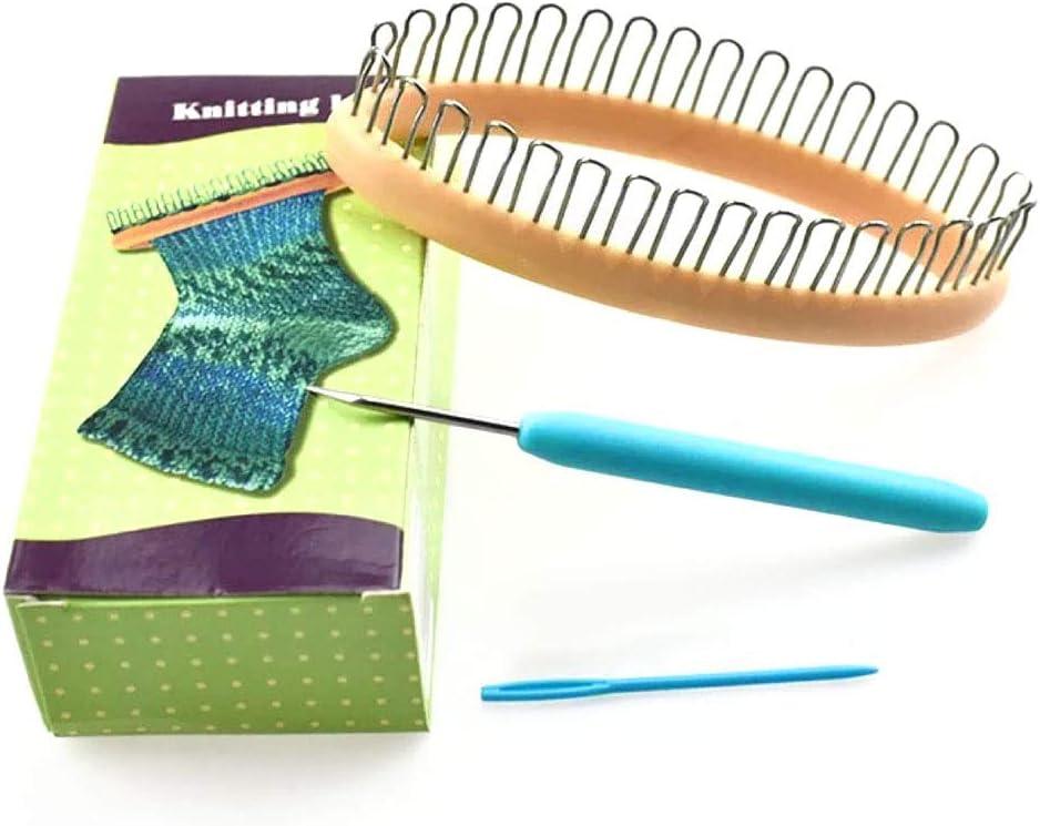 hilo para bufandas agujas herramientas de costura Tama/ño libre As Picture Show accesorios sencillos para el hogar tejer calcetines hechos a mano Juego de tejer telares para manualidades