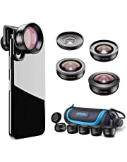 Apexel【Updated Version HD Phone Lens Kit-170°Super (Fisheye) Wide Angle,10X Macro Lens,110° Wide Angle2.0X Zoom Telephoto,195°Fisheye Lens for iPhone XR/XS/XS MAX/X/8 7 6 Plus,Android,Samsung