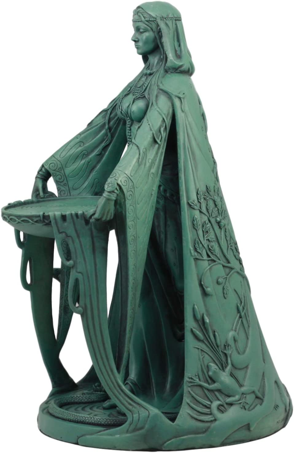 Celtic Goddess Danu Home Decor Statue Made of Polyresin In Bronze Patina