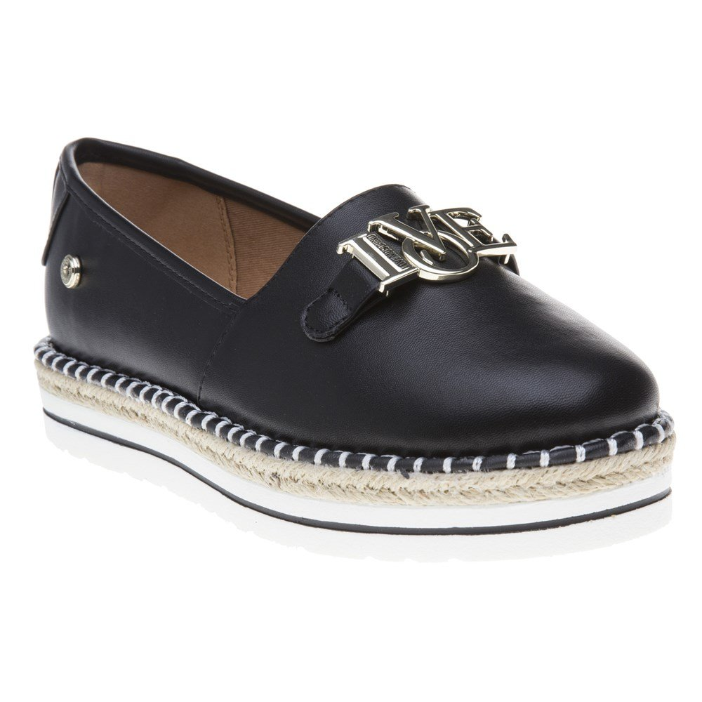 Love Moschino Espadrille Love Womens Shoes Black