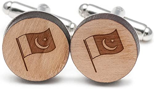 Wooden Accessories Company Wooden Tie Clips with Laser Engraved Blog Design Cherry Wood Tie Bar Engraved in The USA