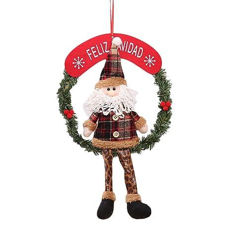 Xmas Tree Santa Claus Snowman Hanging Door Ornament Christmas Home Party Decor