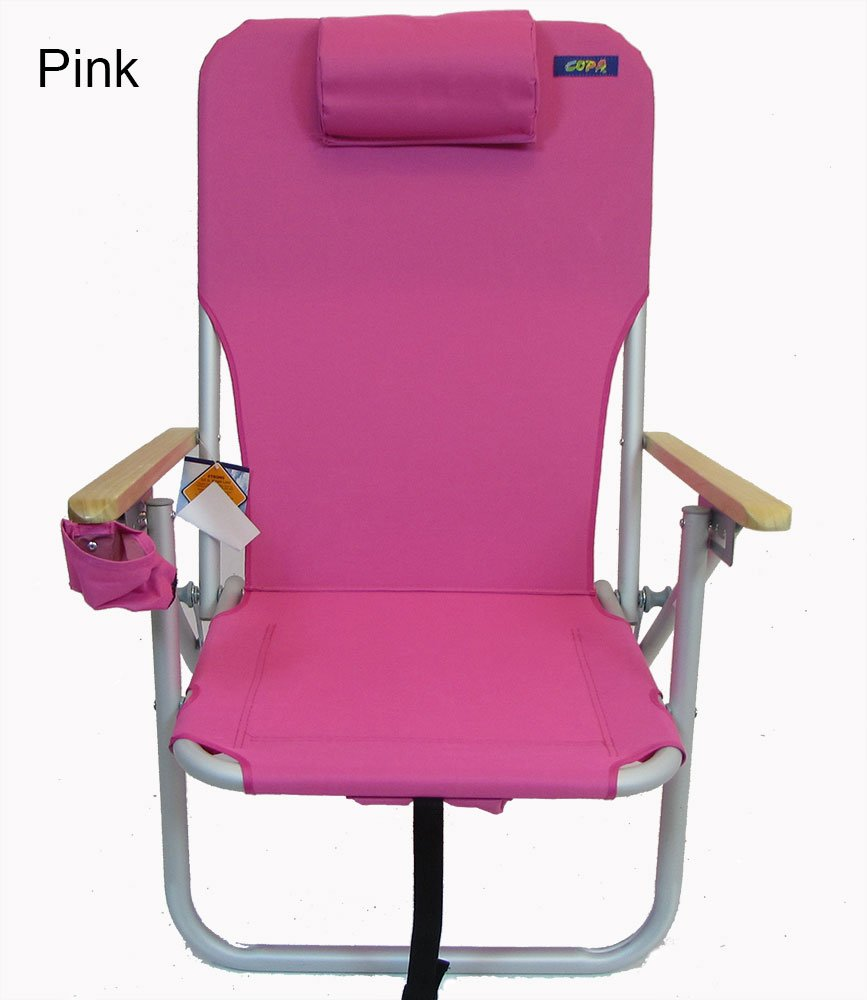 Everywhere Chair COPA 4 Position Aluminum Folding Backpack Chair Pink