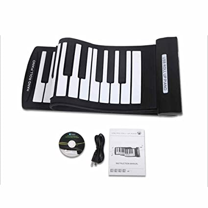 61 Keys Flexible Foldable Soft Portable Electric Digital