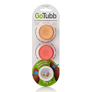 humangear Gotubb, 3-Pack, Small (0.4oz), Clear/Orange/red