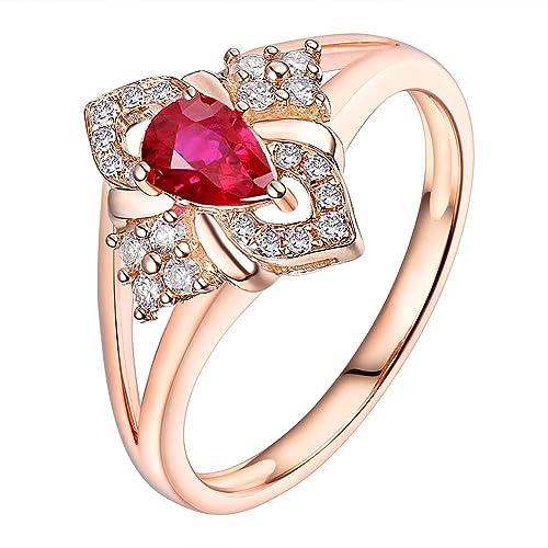 Russisches Rose Rotgold 585 RING mit Trillion hellblau Topas Neu Glänzend