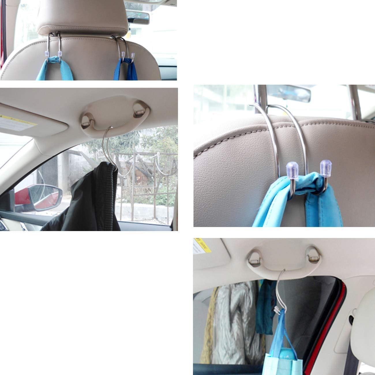 Grocery Bag with Air Conditioner Brush TIHOOD 10Packs Vehicle Headrest Hooks Durable Seat Hanger for Hanging Handbag