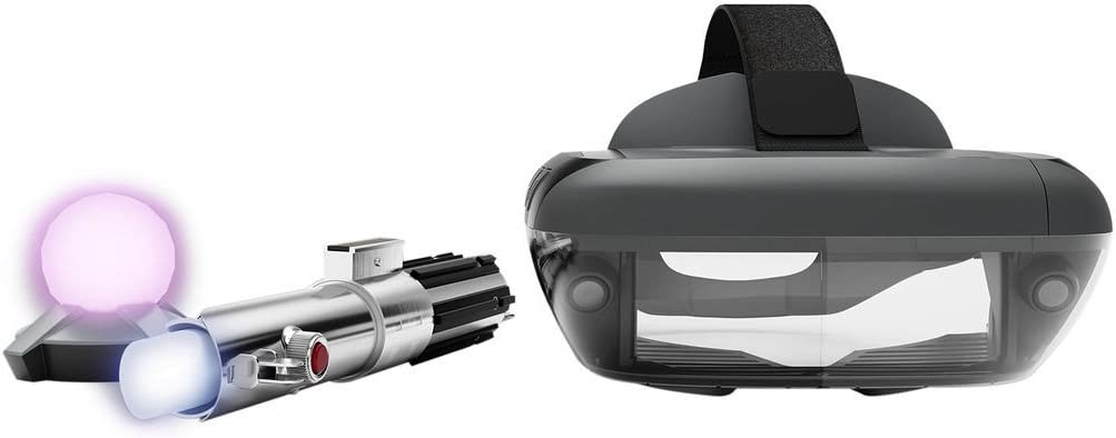 Star Wars: Jedi Challenges AR Headset with Lightsaber Controller and Tracking Beacon (Lenovo AR-7561N) ZA390002US