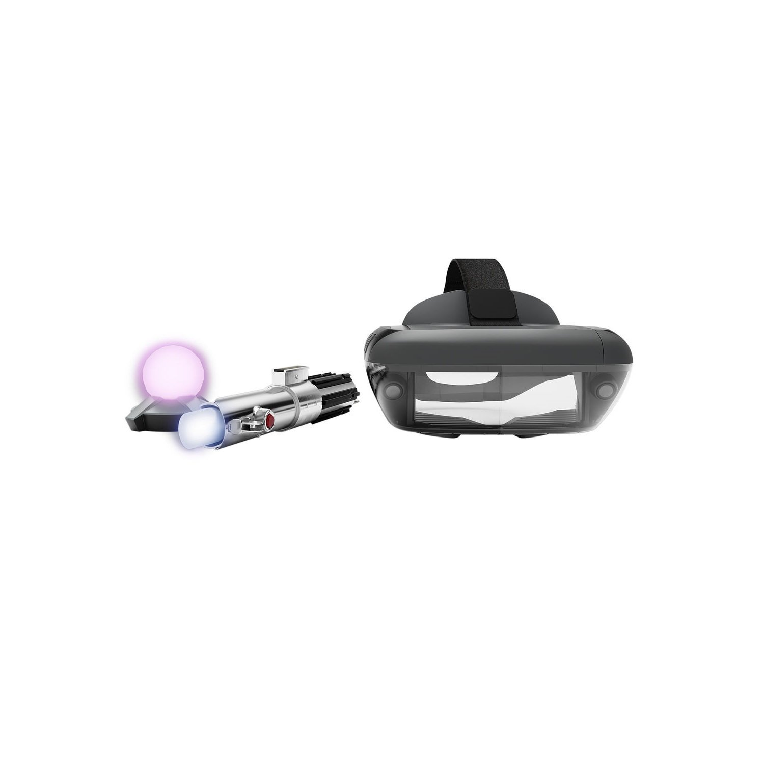 Star Wars: Jedi Challenges AR Headset with Lightsaber Controller and Tracking Beacon (Lenovo AR-7561N)