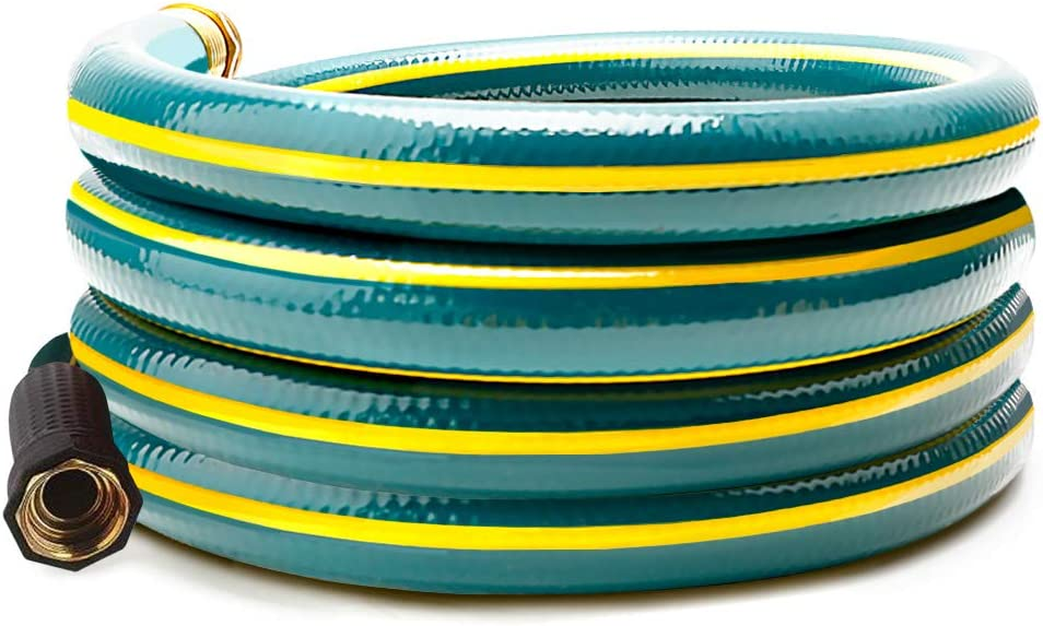 Solution4Patio 3/4 in. x 12 ft. Short Garden Hose, No Leaking, Green Lead-Hose Male/Female Solid Brass Fittings for Reel Cart, Water Softener, Dehumidifier, Camp RV Filter, Janitor Sink Hose #H165B22