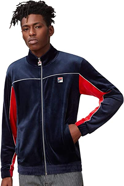 Fila Mens Cisco Peacoat Cred White Piped Track Jacket - L at ...