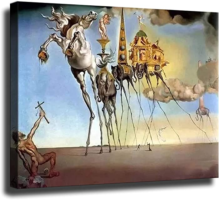 GREAT Modern Wall Poster Art Print Oil Painting on Canvas Home Decor Wall Decoration Canvas Art Salvador Dali Poster Wall (Unframed-No Framed,16×20inch)