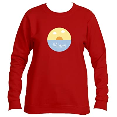 Miami Ocean Sunset - Florida Women's Fleece Crewneck Sweatshirt