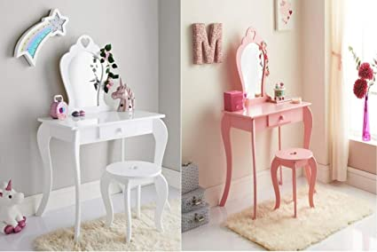 buy popular a4aea 8b428 BPIL New Stunning Pink and White Amelia Vanity Set with ...