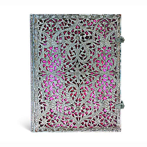 Fine Filigree - Paperblanks Silver Filigree Blush Pink Notebook Lined Pages Writing Journal Blank Sketch Book (Silver Filigree Collection)