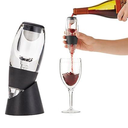lzndeal Decantador de Vino de la jarra Family Party Hotel Fast aireación Vino Vertedor