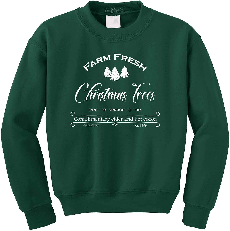 Unisex Sweatshirt Farm Fresh Christmas Pine Trees