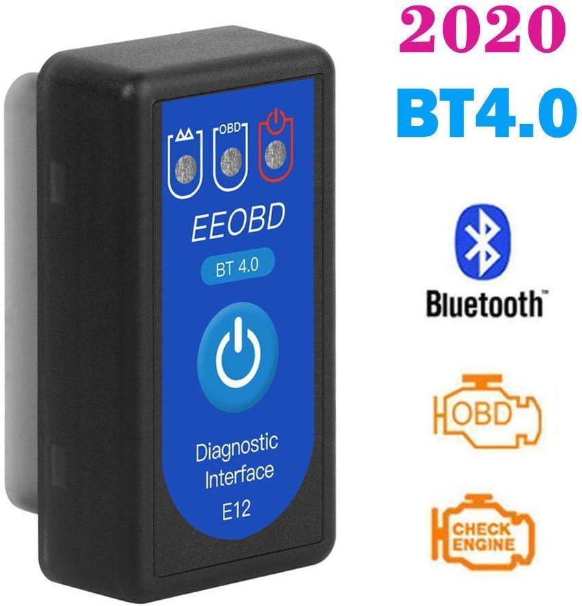 Hym 2020 Elm327 Obdii Bt4 0 Bluetooth Car Diagnostic Tool Obd2 Auto Detector Auto