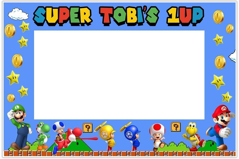Super Mario Brothers Selfie Frame Poster