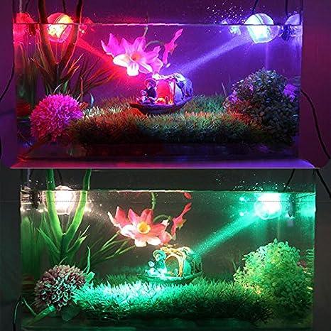 Dxlta LED acuario Tanque de pescado Iluminación LED Iluminación submarina impermeable Noche marina / Luz de buceo Accesorios de decoración de lámpara de ...