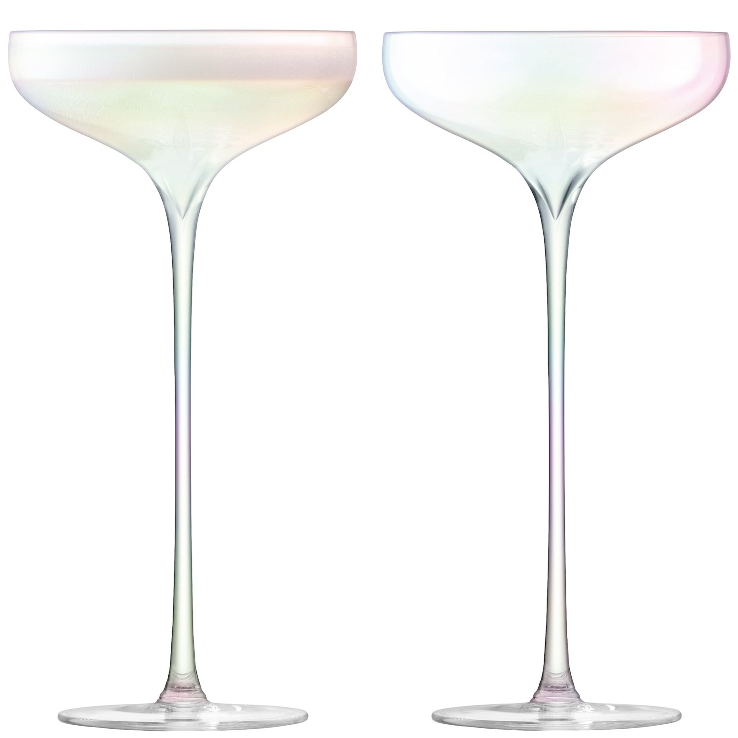LSA International Celebrate Champagne Saucer 250 ml, 2 Piece - Mother of Pearl G1286-07-916
