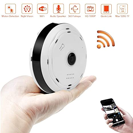 e28d142af1af BlueHills White Compact Security Camera for Ceiling or Walls HD 1080P Night  Vision Motion Detector