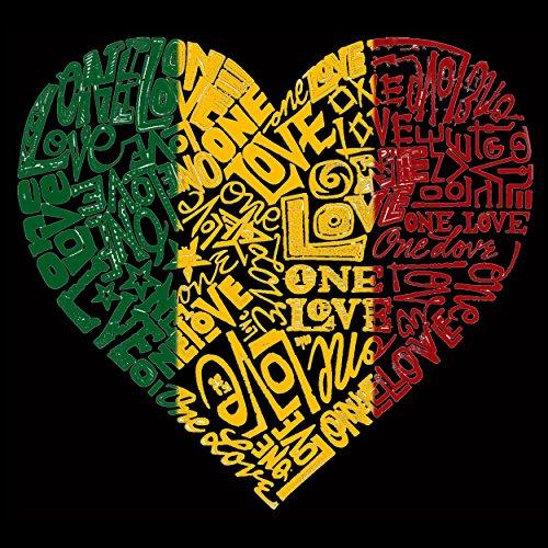 Word Art Apron - One Love Heart- LA Pop Art by Los Angeles Pop Art (Image #1)'