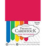AMERICAN CRAFTS 377688 Over The Rainbow Core'dinations 8.5 x 11 Inch Value Pack 50 Sheets, 8.5-x-11-Inch, Piece