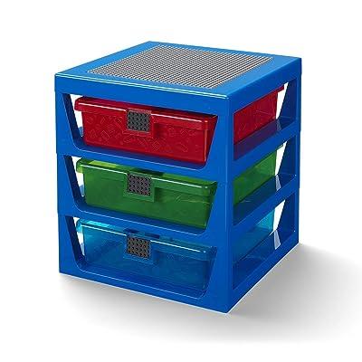 Room Copenhagen Lego 3-Drawer Storage Rack-Blue, us:one Size: Kitchen & Dining