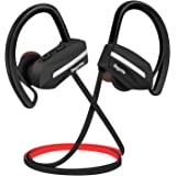 Bagotte Cuffie Bluetooth, Auricolari Bluetooth Sport in-Ear Cuffie Senza Fili Bluetooth 4.1 IPX7 Impermeabile AptX CVC 6.0 Autonomia Batteria Fino a 8 ore con EVA Borsa per iPhone e Andoird