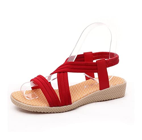 7d65ae17c2171 Always Pretty Cheap Women Shoes Sandals Comfort Flat Sandals Red US 4