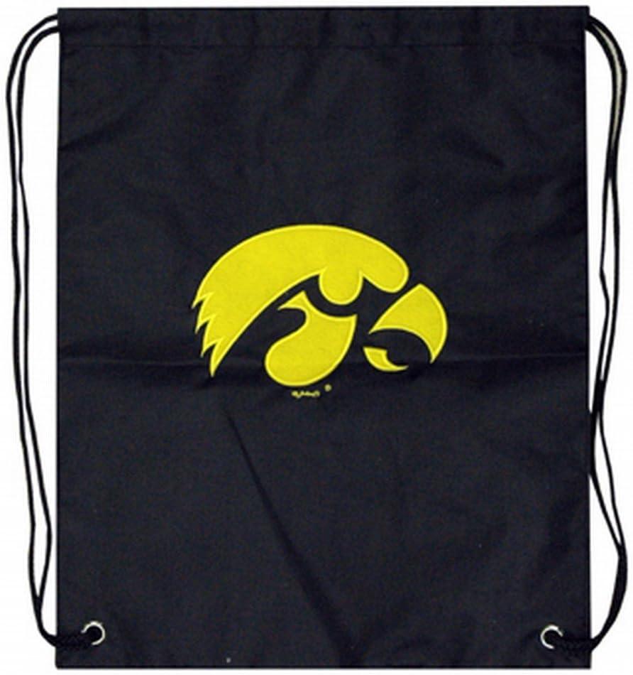 Iowa Hawkeyes Drawstring Backpack Cinch Bag Iowa Back Pack Iowa Hawkeyes Bag Iowa Hawkeyes Tote Bag Hawkeyes Stroller Bag Iowa Diaper Bag