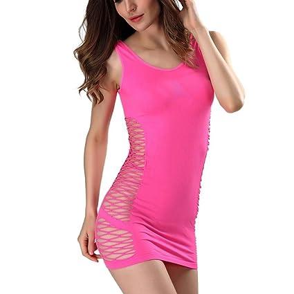 xinxinyu Mujer Sexy Ropa Interior, Sexy pescado Red Lingerie} {Malla pijamas agujero}