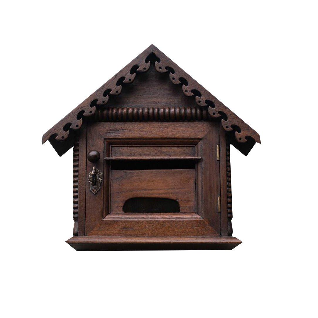 TLMY ロックとクリエイティブな従業員の提案箱屋外防水防水のメールボックスは、壁にマウントすることができますヴィラのメールボックスレトロな木製のメールボックス メールボックス   B07GFBR3TQ
