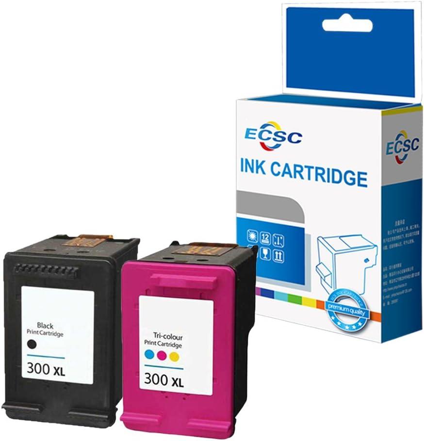 ECSC Remanufacturado Tinta Cartucho Reemplazo para HP Deskjet D1600 D1660 D1663 D2500 D2560 D2563 D2660 D5560 F2400 F2420 F2476 F2480 F2488 F2492 F4210 F4213 F4240 F4272 F4275 300XL (B/CLR, 2-Pack): Amazon.es: Electrónica