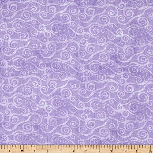Essentials Swirly Scroll Lavender Fabric By The Yard