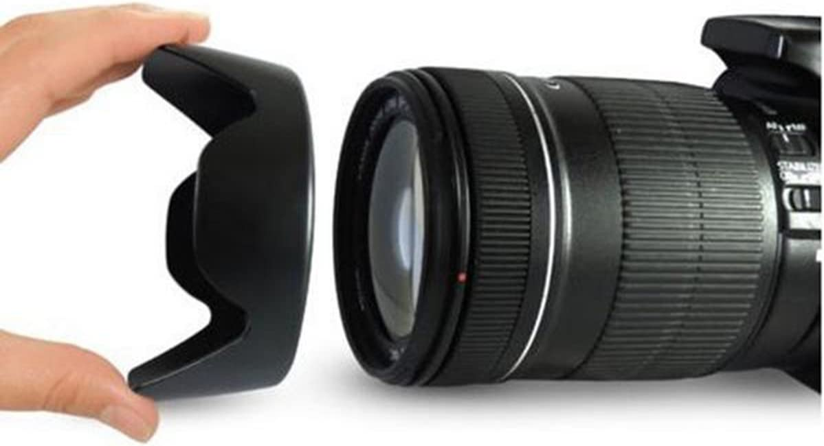 Uonlytech 58mm Universal Professional DSLR Camera Lens Hood for Canon//Nikon//Sony//Pentax//Olympus//Sigma//Tamron