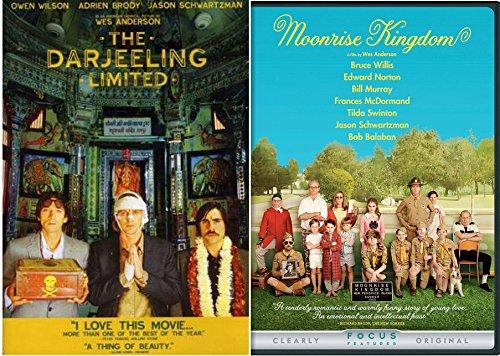 Moonrise Kingdom & Darjeeling Limited 2 DVD Set Wes Anderson Films