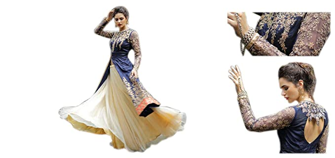 6181e4fc5 Classy Samaan Women s Faux Georgette Semi-Stitched Indo Western ...