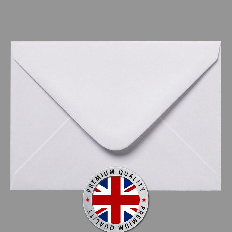 50 C5 Premium Quality WHITE Greeting Card Florist Gummed Envelopes - 162 mm X 229 mm 100GSM - FREE DELIVERY SS SSP GCWE-162x229