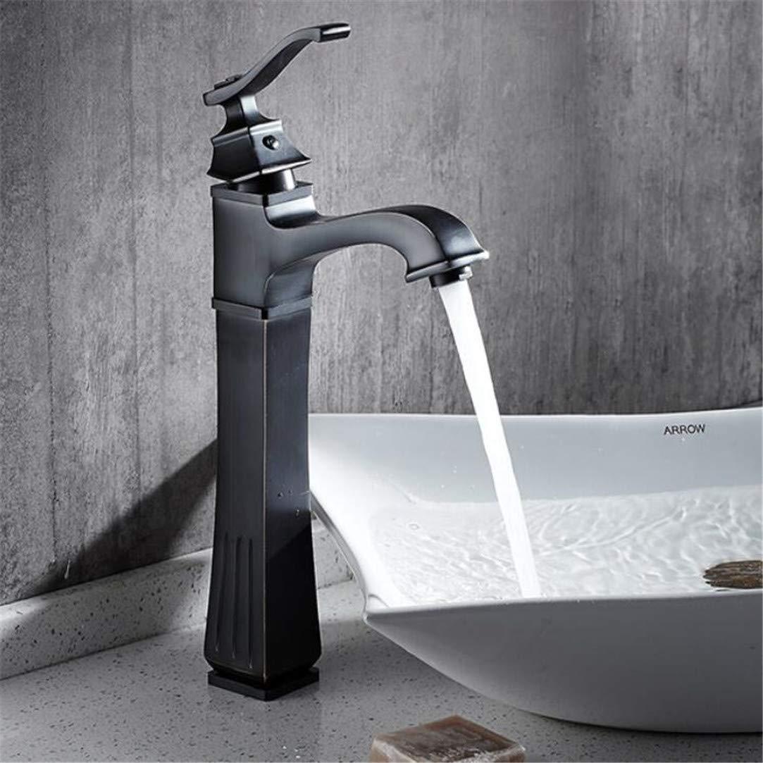 Wasserhahn Waschtischmischer Neu Kostenloser Versand Massivem Messing Öl Eingerieben Bronze Waschbecken Wasserhahn Schwarz Mischbatterie Deck Montiert